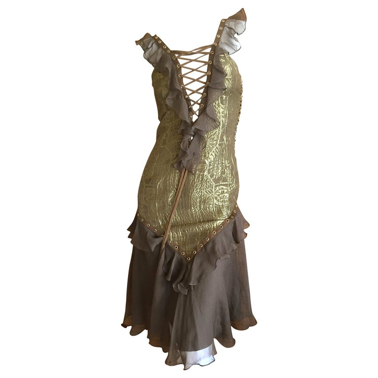 Dior by Galliano Corset Lace Cocktail Dress 3