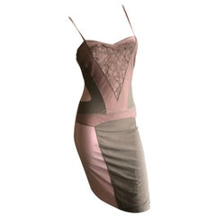 "Dior by Galliano Spring 06 ""Dior Nude"" Collection Trompe l'oeil Slip Dress"