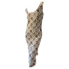 Dior by John Galliano Autumn 1997 Needlepoint Sampler Dress
