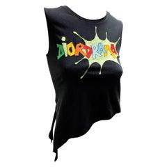 "Dior by John Galliano ""Dior Drama"" Black Cotton T-Shirt"