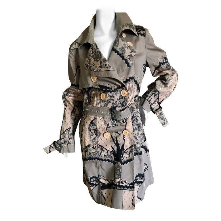 """Dior by John Galliano Spring 2006 """"Dior Nude"""" Collection Tromp l'oeil Lace Coat For Sale"""
