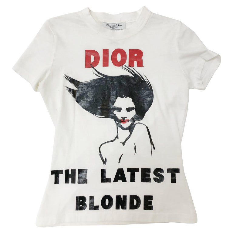 """Dior by John Galliano """"The Latest Blonde"""" Cotton Print T-Shirt For Sale"""