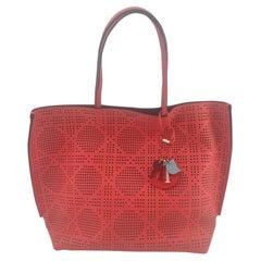 DIOR cabas Shoulder bag in Red Leather