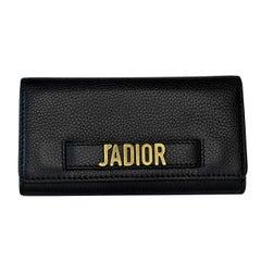 Dior Calfskin Black J'Adior Croisière Wallet