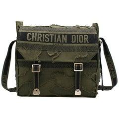Dior Camouflage Embroidered Canvas Messenger Bag