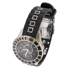 Dior Christal 0.30 Carat Diamond and Sapphire Stainless Steel Watch