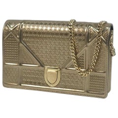 Dior Christian  Christian  chain Wallet Womens shoulder bag gold