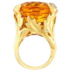 Dior Citrine Cocktail Ring