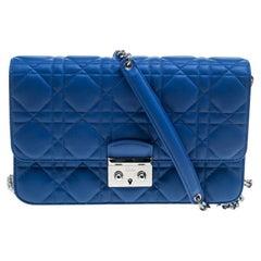 Dior City Blue Cannage Leather Miss Dior Promenade Shoulder Bag