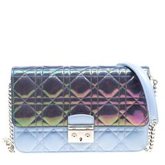 Dior City Metallic Blue/Sky Blue Cannage Leather Miss Dior Promenade Shoulder Ba