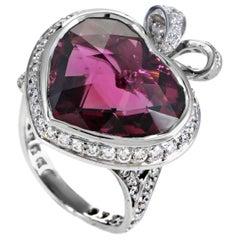 Dior Coeur Romantique Pink Tourmaline Diamond Gold Ring