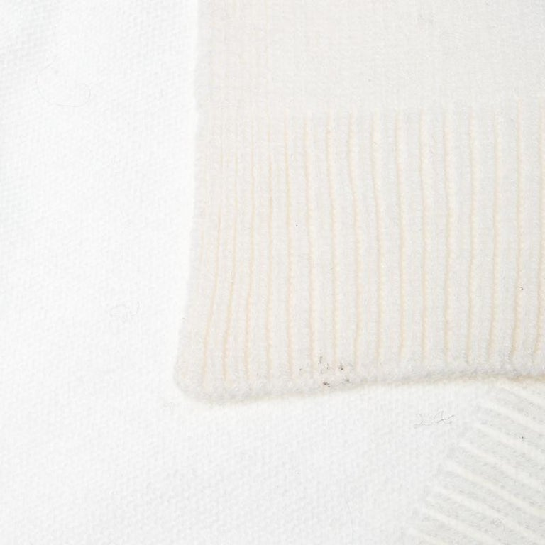 Women's Dior Cream Knit Cashmere Scarf For Sale