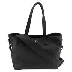 DIOR D-Bee Handbag in Black Leather