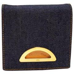 Dior Demin Bleu Fonce Wallet