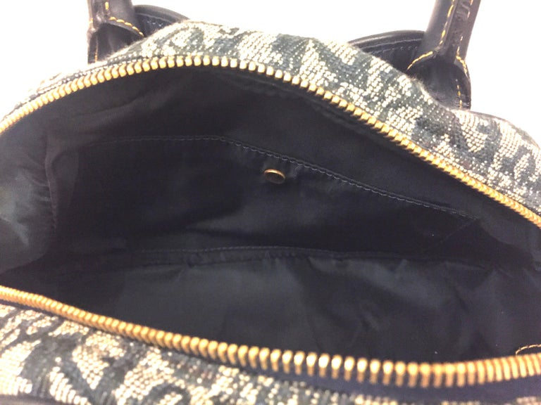 Dior denim monogram handbag  For Sale 3