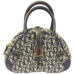 Dior denim monogram handbag