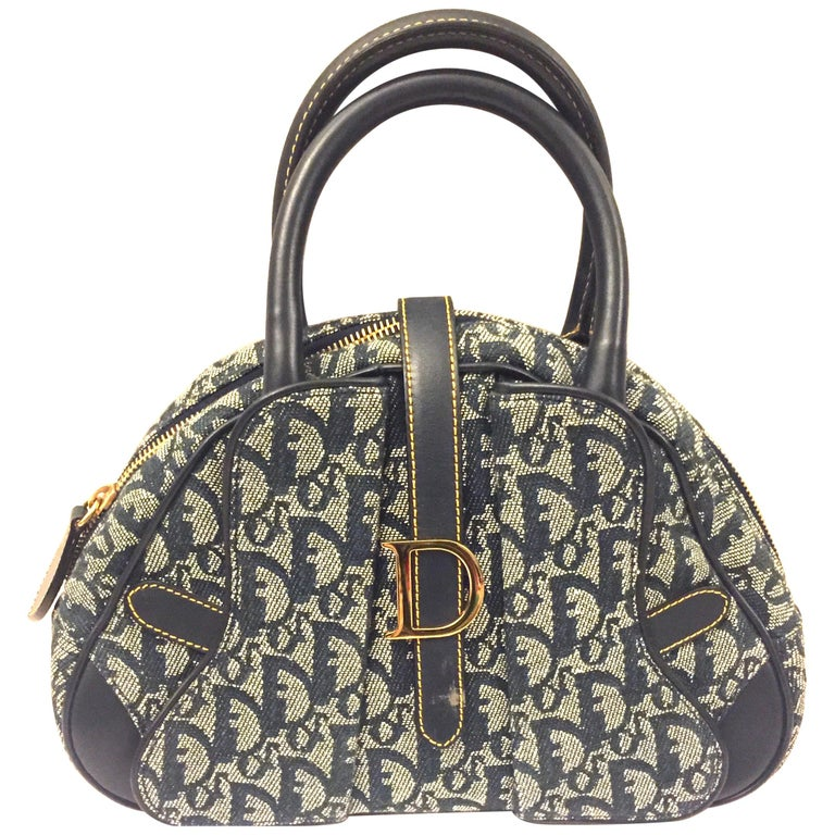 Dior denim monogram handbag  For Sale