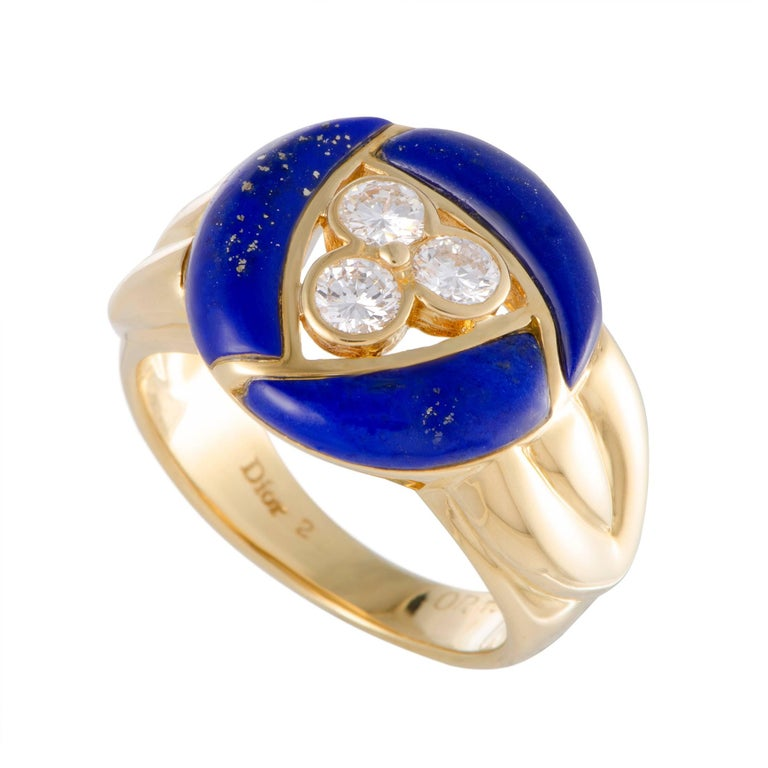 Dior Diamond and Lapis Lazuli Gold Ring
