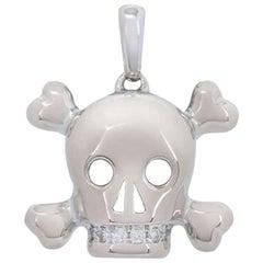 Dior Diamond Tete De Mort Skull Pendant