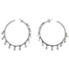 Dior Diamond White Gold Hoop Earrings