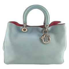 DIOR Diorrisimo Handbag in Blue Leather