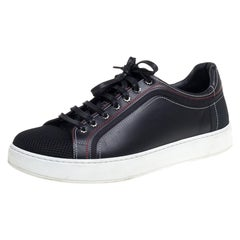Dior Fabric And Leather Low Top Sneaker Size 42