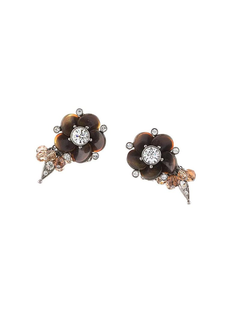Women's Dior Flower Earrings For Sale