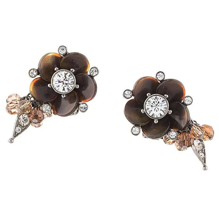 Dior Flower Earrings For Sale