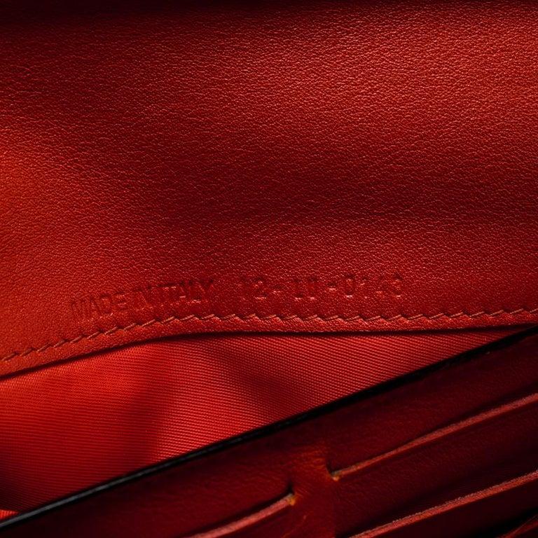 bb048794154 Dior Fuschia/Orange Leather Diorissimo Continental Wallet For Sale 5