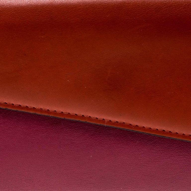 746f38b37e9 Dior Fuschia/Orange Leather Diorissimo Continental Wallet For Sale 6