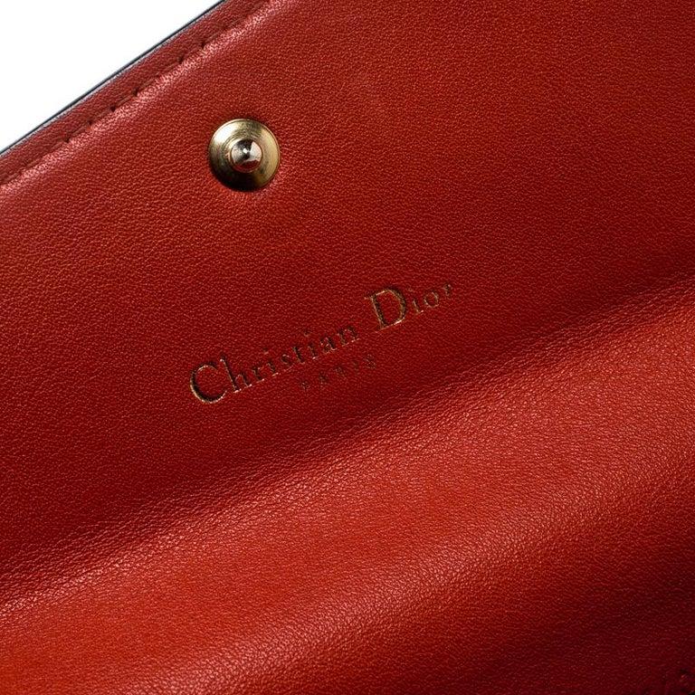 d4c5c1c63e1 Dior Fuschia/Orange Leather Diorissimo Continental Wallet In Good Condition  For Sale In Dubai,
