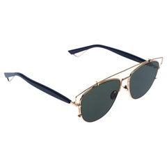 Dior Gold/Green Technologic Aviator Sunglasses