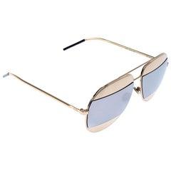 Dior Gold/Grey Diorsplit1 Aviator Sunglasses