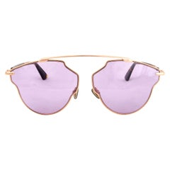 DIOR gold metal SO REAL POP Sunglasses lilac Lens 06J/U1