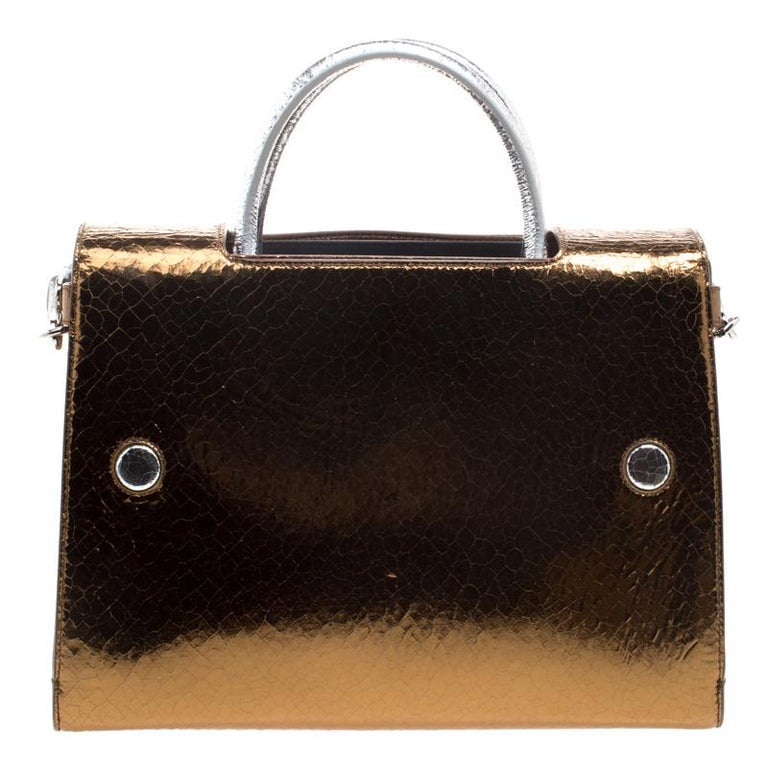 ... Ceramic Effect Leather Medium Diorever Bag For Sale. This gold silver  shoulder bag from Dior makes a standout addition to your collection. 3b0cd4103ffe2