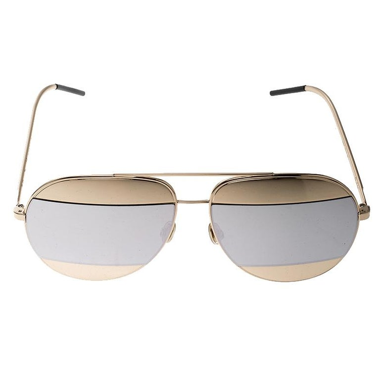470061fac870 Dior Gold Silver Mirrored 000DC Split 1 Aviator Sunglasses For Sale. Stand  out and make a statement with your chic and casual looks wearing these  stunning ...