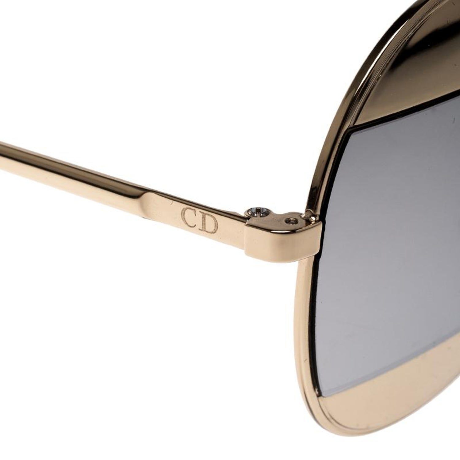 77bfab3f9d85 Dior Gold Silver Mirrored 000DC Split 1 Aviator Sunglasses For Sale at  1stdibs