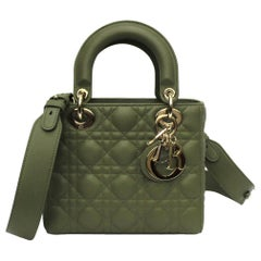 Dior Green Leather Lady Bag