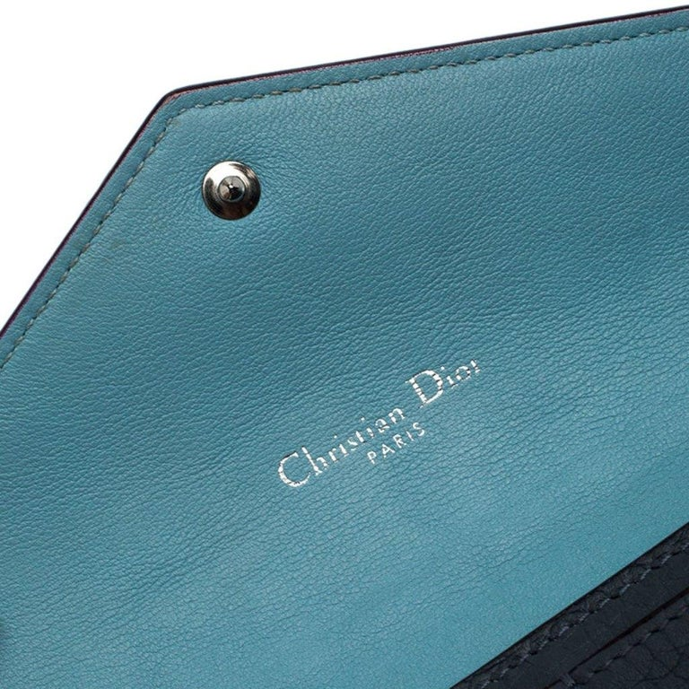 Dior Grey Leather Diorissimo Continental Wallet For Sale 5