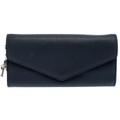 Dior Grey Leather Diorissimo Continental Wallet