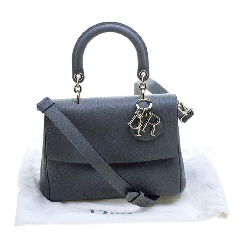 Dior Grey Leather Small Be Dior Shoulder Bag 7