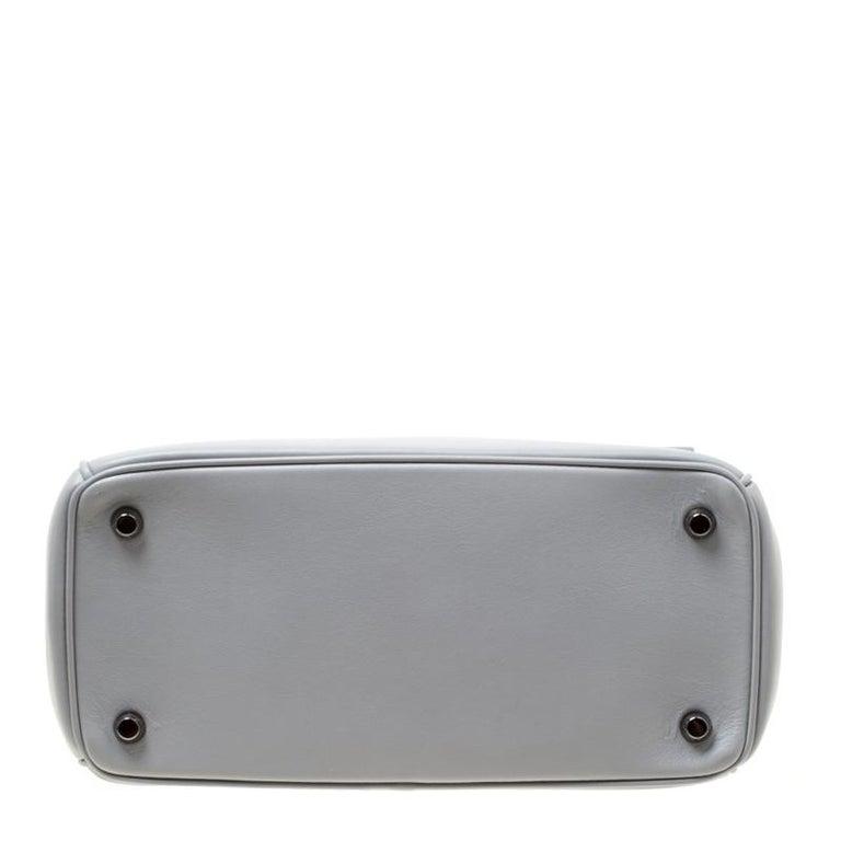 Dior Grey Leather Small Be Dior Shoulder Bag In New Condition For Sale In Dubai, Al Qouz 2