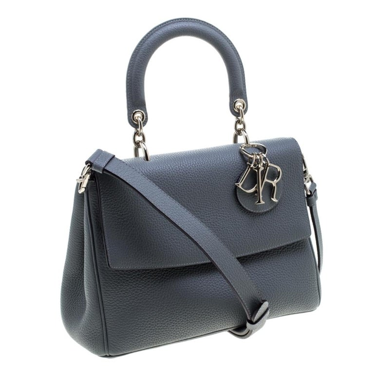 Women's Dior Grey Leather Small Be Dior Shoulder Bag
