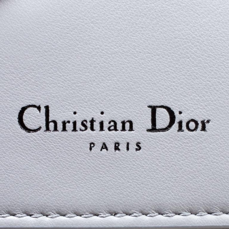 Women's Dior Grey Leather Small Be Dior Shoulder Bag For Sale