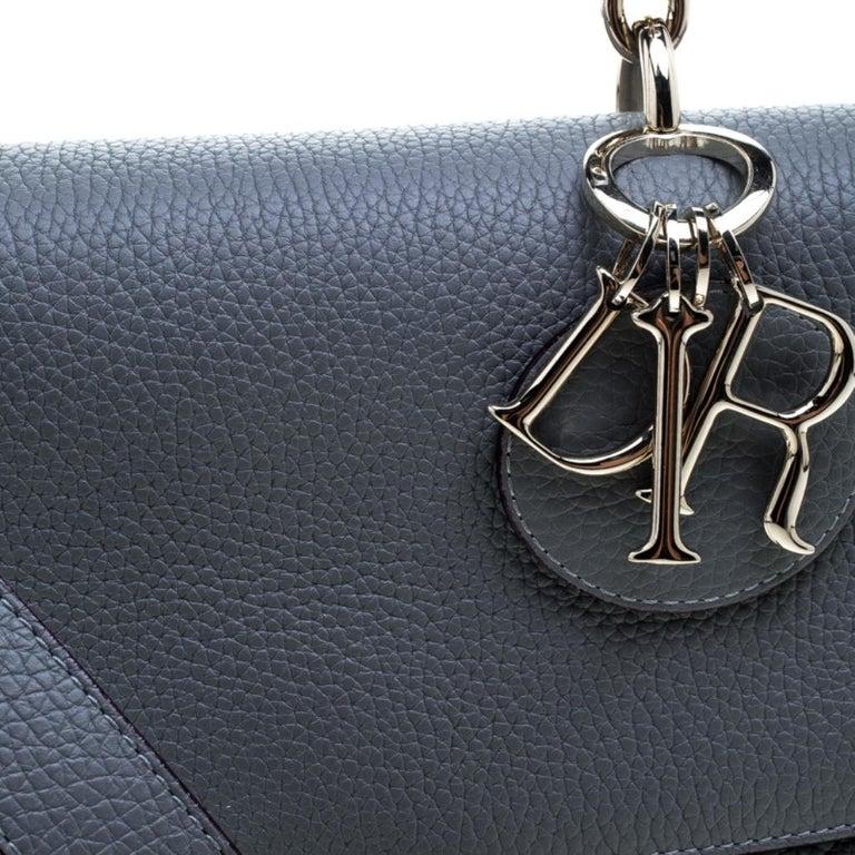 Dior Grey Leather Small Be Dior Shoulder Bag 2