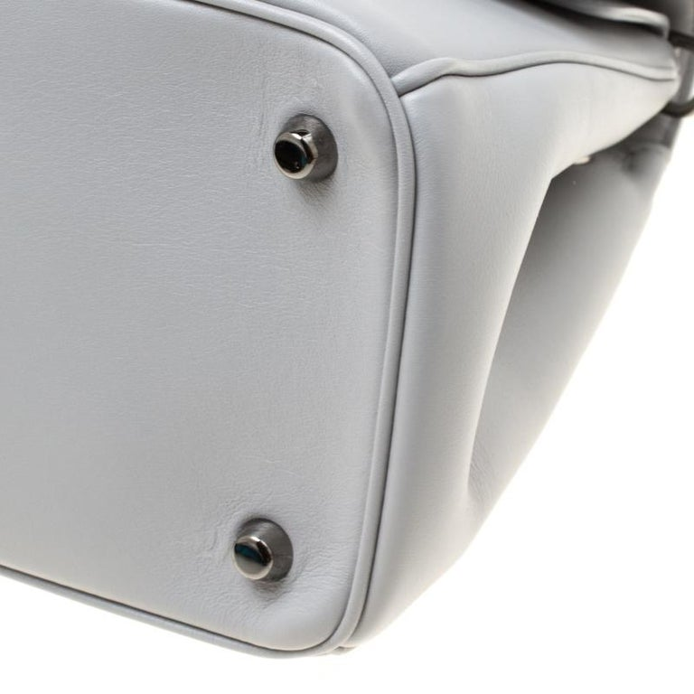 Dior Grey Leather Small Be Dior Shoulder Bag For Sale 2