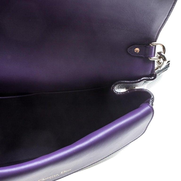 Dior Grey Leather Small Be Dior Shoulder Bag 4