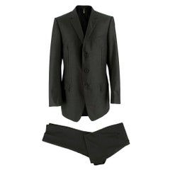 Dior Grey Single Breasted Two-Piece Suit 52
