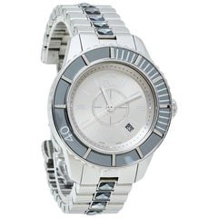 Dior Grey Stainless Steel Christal CD113116 Women's Wristwatch 33MM