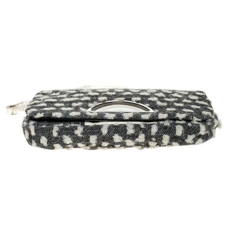 Dior Grey Tweed Limited Edition Beaded Malice Shoulder Bag For Sale 1